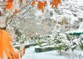 Darende Somuncu Baba Külliyesi'nde kar manzaraları