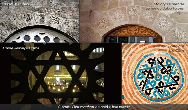 altı köşeli yıldız davut yıldızının kullanıldığı camilere örnekler