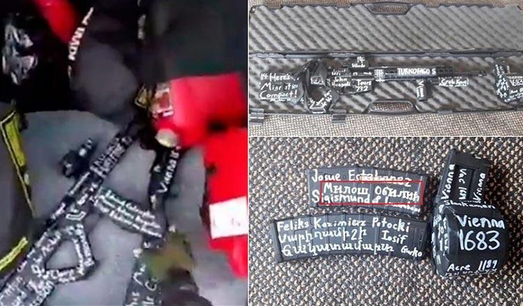 yeni zelanda da teröristin silahındaki işaretler haçlı zihniyeti