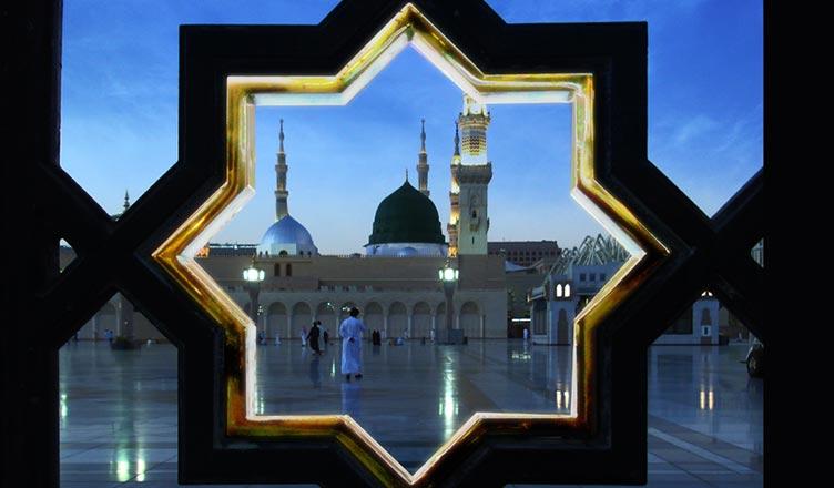 Sekiz Köşeli Yıldız kullanılan yerler mescidi nebi medine