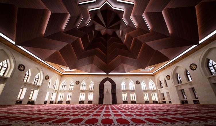 mimaride sekiz köeli yıldız kullanımı darende somuncu baba camii tavan
