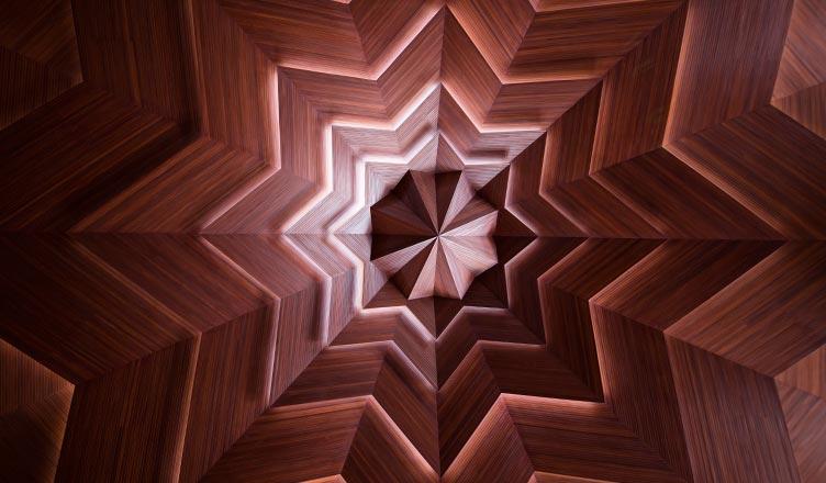 sekiz köşeli yıldız selçuklu yıldızı ahşap tavan darende somuncu baba camii