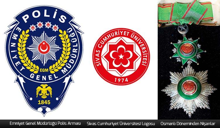 sekiz köşeli yıldız kullanımı polis arması logosu cumhuriyet üniversitesi logosu osmanlı nişanları