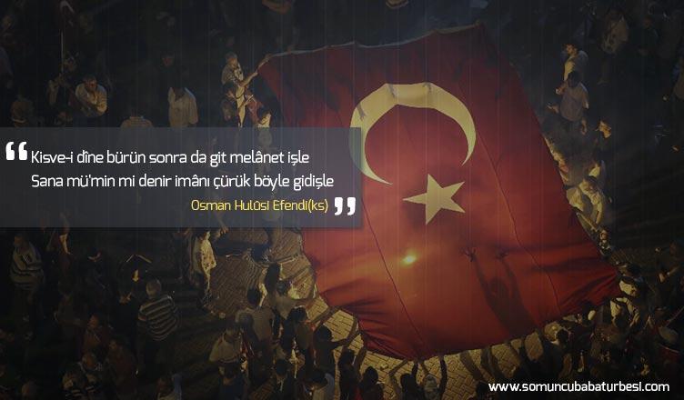 osman hulusi efendi nin müslümanın özelliğini anlatan şiiri
