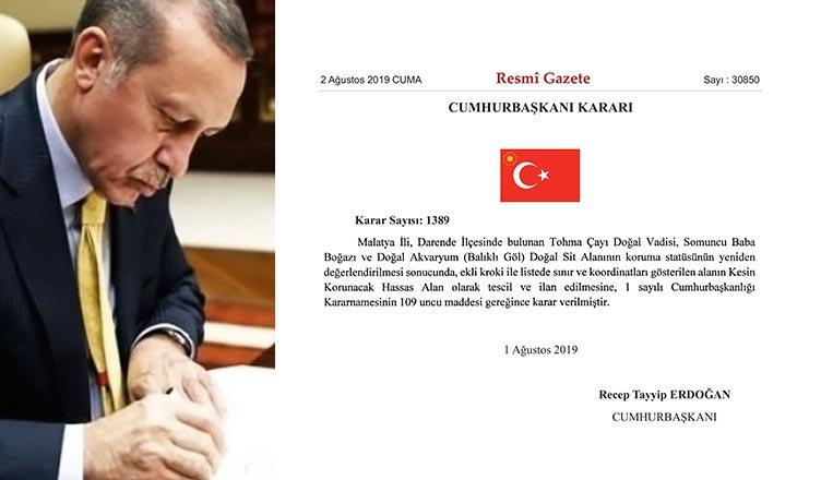 cumhurbaşkanı erdoğan resmi gazete darende somuncu baba