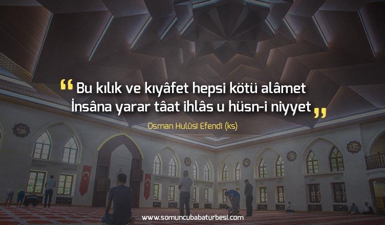 osman hulusi efendi sözleri iy niyet