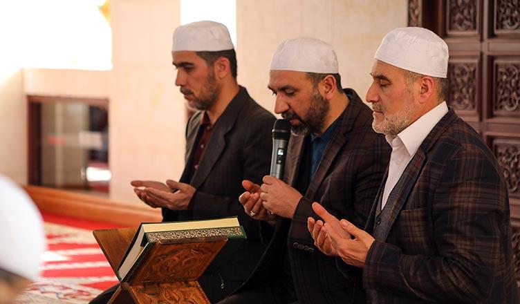 idlib sehitleri icin dua edildi